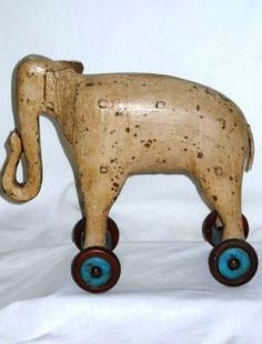 Elephant Pull Toy Elephant pull toy by M.Fortin H.10 1/2in.,L.11 1/2in.,D.4 1/2in(26cm by 29cm by 11cm)