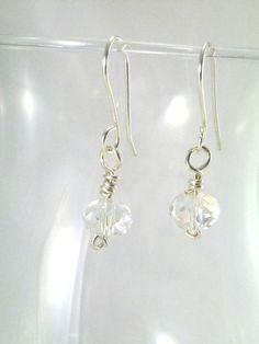Silverplated Crystal Drop Earrings  Silver Plated by 2012BellaVida, $15.00
