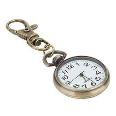 Unisex-Legierung Analog Quarz Schlüsselbund Uhr (Bronze) – EUR € 2.75