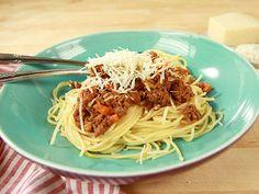 Klassisk köttfärssås med spaghetti (kock Jennie Walldén)