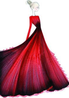 Valentino dress #fashion #illustration #evatornadoblog