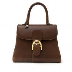 acheter en ligne seoconde main comme neuf Delvaux Brown Pm Brillant Bag  site en ligne seconde main luxe marque