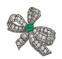 EMERALD AND DIAMOND BROOCH, MID 19TH CENTURY - Sotheby's
