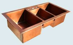 Custom Copper Kitchen Sinks # 3839