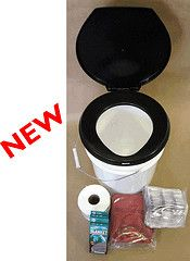 Emergency porta-potty kit - stores in the bucket you would use for... well, you get the point.