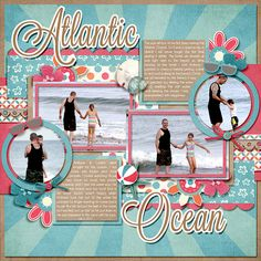 #papercraft #scrapbook #layout. Atlantic Ocean. I like the circle frames