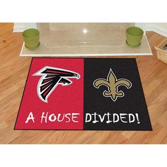 Atlanta Falcons-New Orleans Saints NFL House Divided NFL All-Star Floor Mat (34x45)