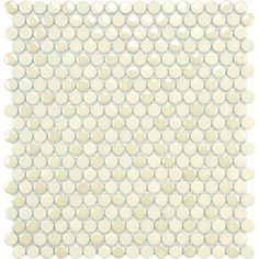 @Overstock - This tile is a new take on the classic penny-round mosaic. This tile is glazed porcelain with matte, glossy and iridescent finishes and is perfect for indoor or outdoor use.   http://www.overstock.com/Home-Garden/SomerTile-11.25x12-inch-Posh-Penny-Round-Almond-Porcelain-Mosaic-Tiles-Set-of-10/6486032/product.html?CID=214117 $66.99