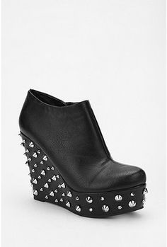 Deena & Ozzy Studded Wedge Boot - StyleSays I do not like these but I know those who do wear this style, couldnt pass it up  :D lol