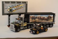 Lego smokey and the bandit Cool Lego, Cool Toys, Ghost Rider 2007, Dukes Of Hazard, Lego Kits, Lego Truck, Smokey And The Bandit, Kenworth Trucks, Lego House