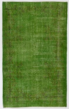 "4' x 6'6"" (122 x 200 cm) Turkish Overdyed Rug, Green by Zorlus on Etsy"