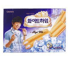 Crown Whiteheim 142g---->White #Korean #Cookie/ #Biscuit|Online Shopping