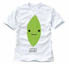 """""""leaf me alone"""" t-shirt"""