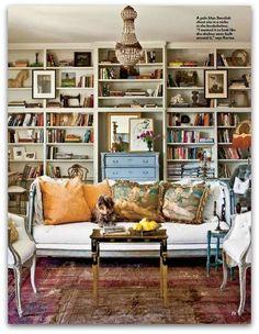 The living room of Karina Gentinetta + http://karinagentinetta.blogspot.com/2012/03/southern-living-magazine-april-2012.html