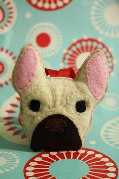 French Bulldog Felt Ornament