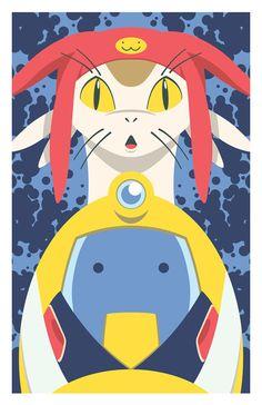 Meow & QT by Matt Reedy, via Behance