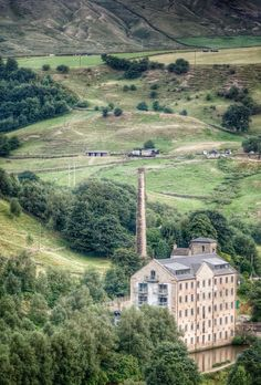 High above Todmorden, Yorkshire - An old mill converted to apartments. How wonderful would this be? Yorkshire England, Yorkshire Dales, North Yorkshire, England Ireland, England And Scotland, English Romance, Places To Travel, Places To Visit, Living In England