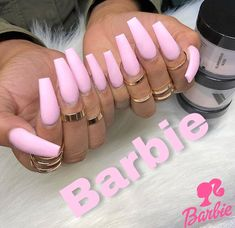 Nails pink Image uploaded by Reddheadd. Find images and videos about long nails, pink nails. Image uploaded by Reddheadd. Find images and videos about long nails, pink nails and acrylic nails on We Heart It - the app to get lost in what you love. Ongles Roses Barbie, Barbie Pink Nails, Gorgeous Nails, Pretty Nails, Aycrlic Nails, Coffin Nails, Glitter Nails, Gradient Nails, Matte Pink Nails