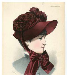 Headgear 19th century, Plate 064 :: Costume Institute Fashion Plates 1882