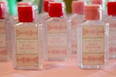 baby shower favors:  Anti Bacterial Hand Sanitizer