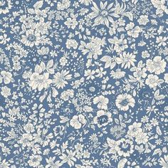 Liberty Quilting Collection Fabric Emily Silhouette Z - Alice Caroline - Liberty fabric, patterns, kits and more - Liberty of London fabric online Liberty Of London Fabric, Liberty Fabric, Liberty Print, Women Artist, Fabric Factory, Cotton Quilting Fabric, Patchwork Quilting, English Roses, English English