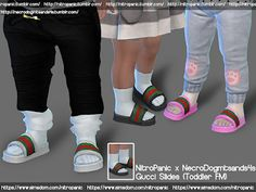 Gucci Slides (Toddler F M) x HD Feet – The Sims 4 Downlo… - Mvagustacheshire The Sims 4 Kids, Toddler Cc Sims 4, The Sims 4 Bebes, Sims 4 Toddler Clothes, Sims 4 Cc Kids Clothing, Sims 4 Children, Toddler Shoes, Kid Shoes, Sims 4 Male Clothes