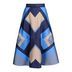 Ostwald Helgason Patchwork Mikado Silk Skirt