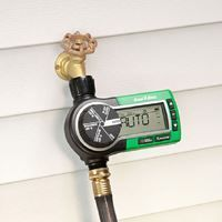 Rain Bird Electronic Garden Hose Watering Timer - Automate your hose-end sprinklers, drip irrigation system or soaker hose for better scheduling consistency with this easy-to-use digital controller. Along with rugged dependability for season-long outdoor use, this professional grade controller offers sophisticated functions for worry-free watering convenience. $49.00