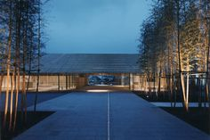 Nakagawa-machi Bato Hiroshige Museum of Art Japan Architecture, Brick Architecture, Chinese Architecture, Landscape Architecture, Chinese Buildings, Small Buildings, Shed House Plans, Facade Lighting, Entrance Design