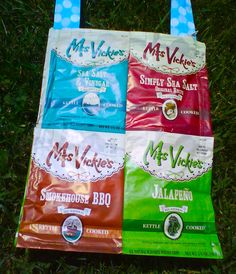 Miss Vickie's chips tote bag Frito Lay, Feed Bags, Snack Recipes, Snacks, Doritos, Bbq, Quilting, Fans, Crafting