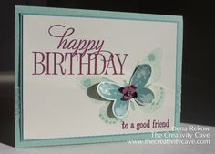 Watercolor Wings Birthday Friend by drekow - Cards and Paper Crafts at Splitcoaststampers