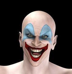 Scary Clown Face