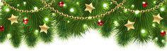 Christmas Pine Decor PNG Clip Art Image