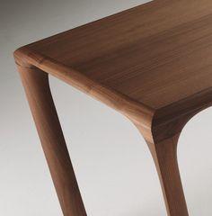 Rectangular walnut dining table Sintesi Collection by LINFA DESIGN | design Claudio Lovadina