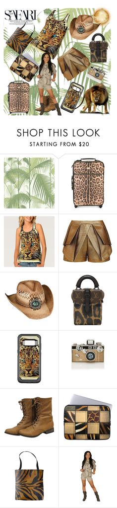 """Safari Trip"" by personaleffects ❤ liked on Polyvore featuring Cole & Son, Dolce&Gabbana, sass & bide, Overland Sheepskin Co., Louis Vuitton, Judith Leiber, fashionset, polyvorestyle and polyvorefashion"