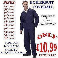 beige boilersuit men - Google Search Mechanic Coveralls, Boiler Suit, Cotton Fabric, Fashion Outfits, Ebay, Men, Beige, Shopping, Google Search