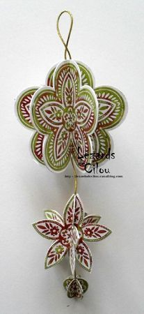 I'd love to make an ornament like this with some of my medallion stamps. I've got so many from different sets.