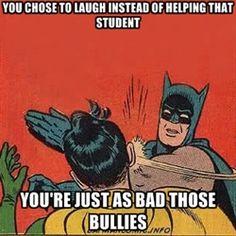 A batman and robin meme about anti bullying