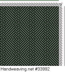 Drawdown Image: Figure 403, A Handbook of Weaves by G. H. Oelsner, 4S, 4T