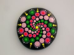 Easter-Mandala stones-dot art-painted by RockArtiste on Etsy