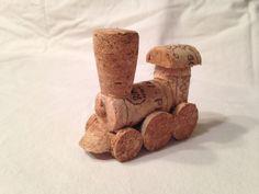 Model Wine Cork Train Handmade