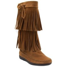Sugar  Chessie Double Fringe Tall Boots ($60) ❤ liked on Polyvore featuring shoes, boots, cognac, tall boots, fringe boots, cognac boots, knee-high fringe boots and tall fringe boots