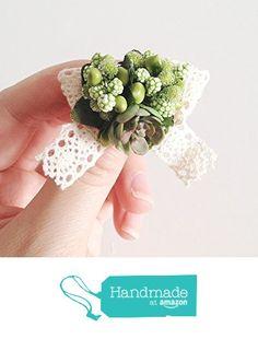 Imitation Succulent Plants Brooch - Mori Girl - Green Foam Fruits - Forest - Green Leaves -Cotton lace - Kid - Wedding - Woodland from FloraStudio http://www.amazon.com/dp/B018TATPNU/ref=hnd_sw_r_pi_dp_GgcMwb1ZN7WZY #handmadeatamazon