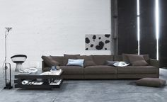 """Flap Sofa by Eilersen, Denmark """"A Scandinavian sofa that has been dressed casually by a haute couture designer"""" says Jens Juul Eilersen about his new sofa. Boston Furniture, City Furniture, Furniture Design, Contemporary Furniture Stores, Contemporary Sofa, Modern Furniture, Scandinavian Sofas, Living Room Color Schemes, Modular Sofa"""