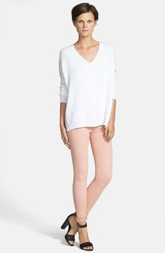 Vince Favorite Tank With Coral Leggings  available at #Nordstrom