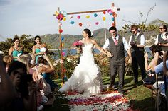 destination wedding in mexico Photo by: Puo Photo || http://www.paulinaulloa.com/ || Seen on http://www.jetfeteblog.com/destination-weddings/brightly-colored-mexico-destination #wedding ceremony #colorful #wedding arch