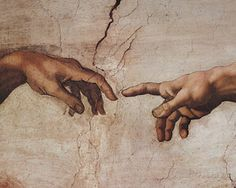 Creation of Adam Detail Hands Art by Michelangelo Buonarroti at AllPosters.com