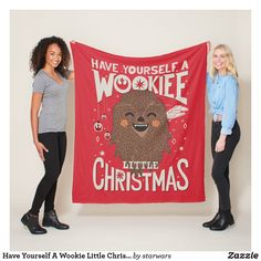 Have Yourself A Wookie Little Christmas Fleece Blanket Star Wars Christmas, Merry Little Christmas, Christmas Holidays, Star Wars Store, Star Wars Merchandise, Lifelong Friends, Star Wars Gifts, Edge Stitch, Chewbacca