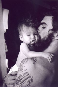 beard. baby. tattoo. love.