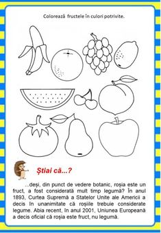 Învățăm jucându-ne: Fructele - Logorici Kids Poems, Finger Puppets, Red Riding Hood, Drawing For Kids, Little Red, Preschool Activities, Healthy Choices, Worksheets, Diy And Crafts